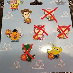Disney Shanghai Toy Story Booster Pin Set